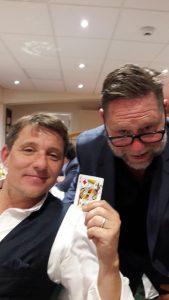 Performing card trick for celebrity Ben Shephard