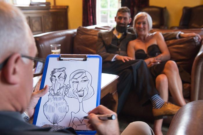wedding caricature essex